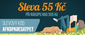 Číslem roku je 5 | Sleva 55 Kč při nákupu nad 555 Kč