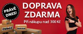 Doprava zdarma na každou objednávku nad 300 Kč