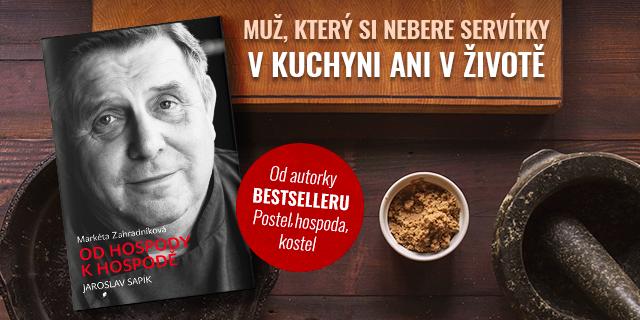 Sapík & Zahradníková: nový knižní rozhovor od autorky bestselleru Postel, hospoda, kostel - titulní obrázek