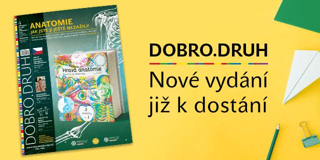 Nové číslo magazínu Dobro.druh s podtitulem Hurá do školy je tu! - titulní obrázek