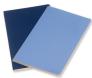Moleskine - zápisník Volant 2 ks - čistý, modrý L 1