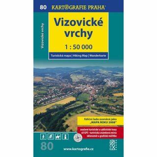 1: 50T (80)-Vizovické vrchy (turistická mapa)