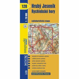 1: 70T(128)-Hrubý Jeseník,Rychlebské hory (cyklomapa)