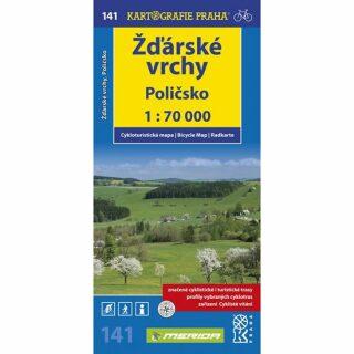 1: 70T(141)-Žďárské vrchy,Poličsko (cyklomapa)