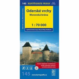 1: 70T(145)-Oderské vrchy,Moravská brána (cyklomapa)