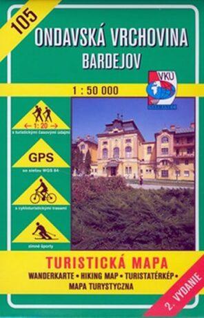 Ondavská vrchovina Bardejov 1 : 50 000 - neuveden