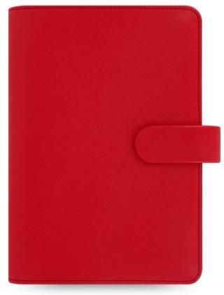 Diář Filofax A6 - Saffiano, 2021, Osobní, červená