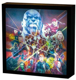 Světelný obraz Avengers Infinity War 25 x 25 cm