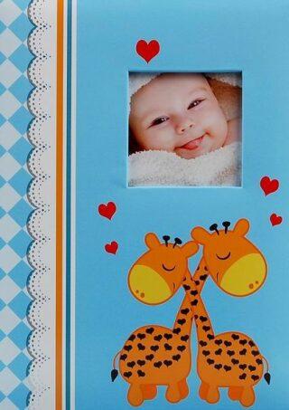 Fotoalbum dětské 300 Žirafy modré