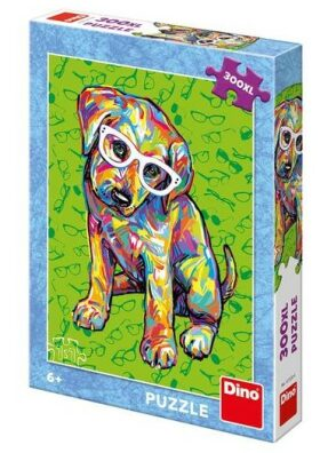 Štěňátko s brýlemi Puzzle XL 300 dílků