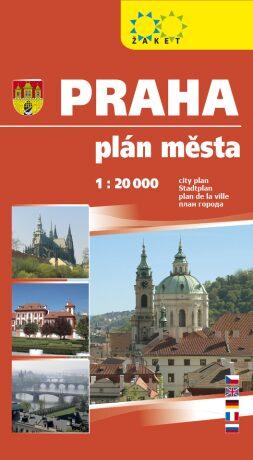 Praha velká 1:20 000 plán města (kartonová obálka) -
