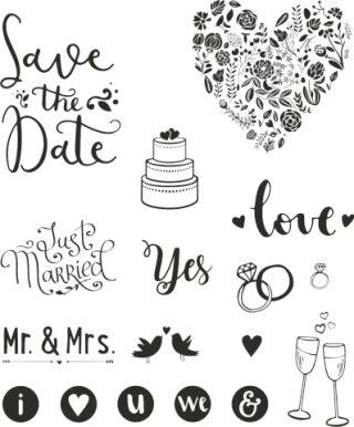 Razítka - Štočky - svatební (17 ks)