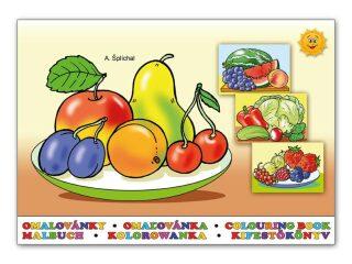 Omalovánky - Ovoce a zelenina