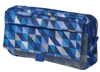 Pouzdro 2 kapsy - Geometric Blue