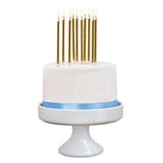 Svíčky naroz.+ stoj. 10ks zlaté