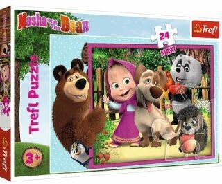 Puzzle Máša a medvěd MAXI