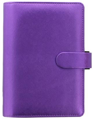 Diář 2021 Filofax A6 - Saffiano Metallic, Osobní, fialová