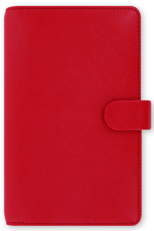 Diář Filofax A6 - Saffiano 2021, Osobní Compact, červená