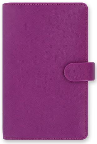 Diář 2021 Filofax A6 - Saffiano, Osobní Compact, malinová