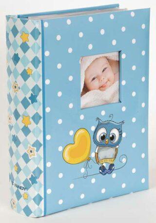 Fotoalbum 300 10x15 Owls modré