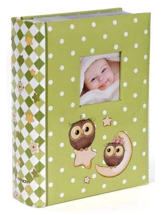 Fotoalbum 300 10x15 Owls zelené