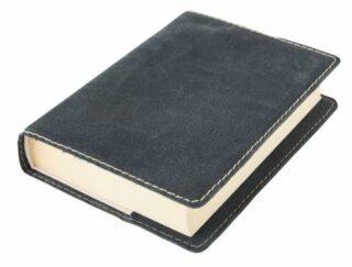 Obal na knihu KLASIK M - 22,7 x 36,3 cm, Barva kůže: Černá semiš (D38)