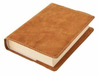Obal na knihu KLASIK M - 22,7 x 36,3 cm, Barva kůže: Medová semiš (D39)