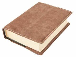 Obal na knihu KLASIK M - 22,7 x 36,3 cm, Barva kůže: Ořechová (D41)