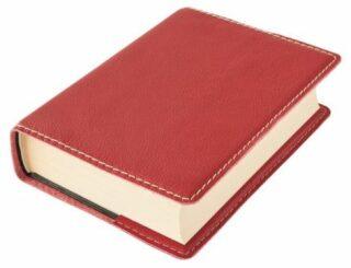 Obal na knihu KLASIK M - 22,7 x 36,3 cm, Barva kůže: Červená (K64)