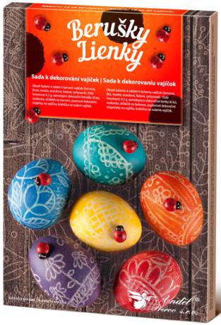 Sada k dekorování vajíček - berušky - neuveden