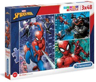 Puzzle Supercolor 3x48 Spiderman