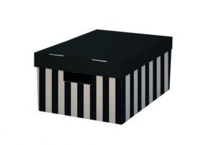 Krabice s víkem 28x37x18 (2ks) černá