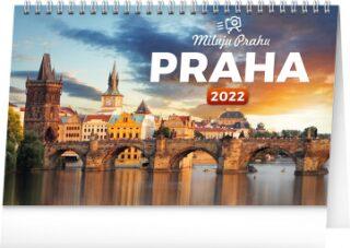 Stolní kalendář Praha – Miluju Prahu 2022