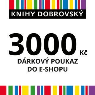 E-shopová dárková poukázka 3000 Kč