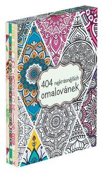 404 nejkrásnějších omalovánek - dárkový box (komplet) - autora nemá