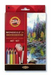 Akvarelové pastelky Mondeluz 24ks 3711