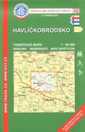 KČT 46 Havlíčkobrodsko 1:50 000