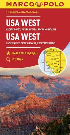 USA západ/mapa 1:2M MD - neuveden