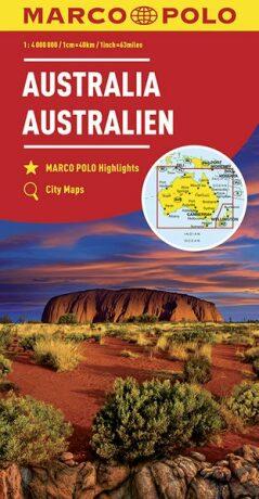 Austrálie 1:4M/mapa (ZoomSystem) MD - neuveden