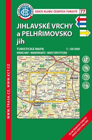 KČT 77 Jihlavské vrchy a Pelhřimovsko jih 1:50 000
