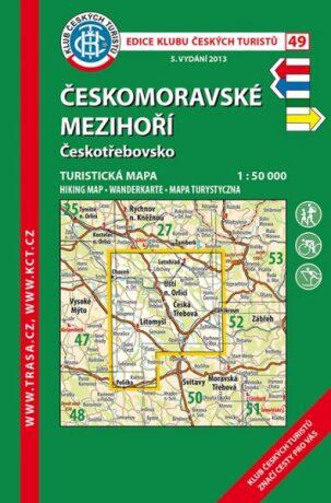 KČT 49 Českomoravské mezihoří 1:50 000