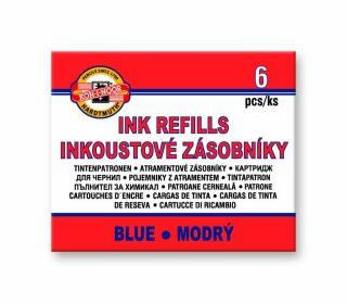 Inkoustové zásobníky modré 6ks