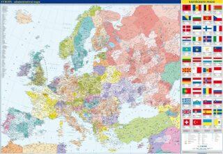 Evropa – nástěnná administrativní mapa