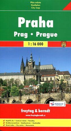 Praha 1:16 T plán města - neuveden