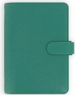 Diář Filofax A6 - Saffiano 2021, Osobní, akvamarínová