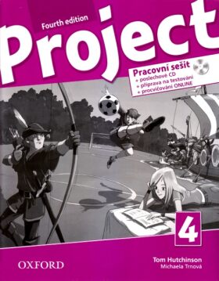 Project 4 Pracovní sešit s poslechovým CD a Project Online Practice (4th) - Kolektiv