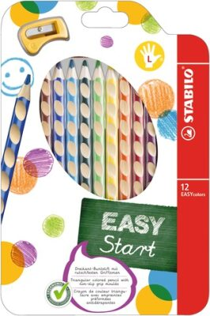 Pastelky STABILO EASYcolors Levák sada 12 ks