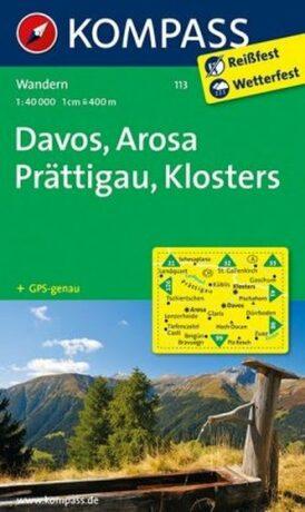 Davos-Arosa-Prättigau-Klosters 113 NKOM 1:50T - neuveden