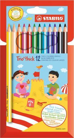 Pastelky STABILO Trio thick sada 12 ks