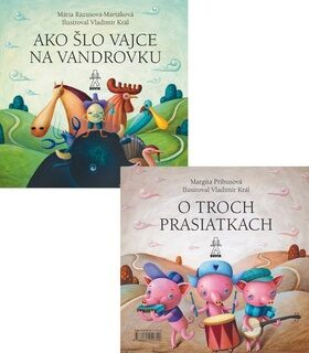 Ako šlo vajce na vandrovku O troch prasiatkach - Mária Rázusová-Martáková, Margita Príbusová